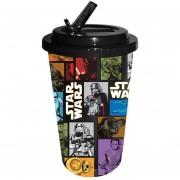 Vaso Star Wars Cup Rey Captain Phasma Chewbacca Con Tapadera