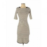 Monteau Casual Dress - Bodycon: Ivory Print Dresses - Used - Size X-Small