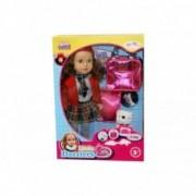 Kidz Corner Bambola con Cucciolo e accessori 48 cm