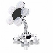 BND Mini Flower Shape Phone Holder Car Mount Sucker Stand 360 Rotatable Phone Metal Magic Suction Cup Mobile Holder