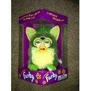 "Furby Model 70 800 Green Striped ""Frog"" Electronic Furbie"