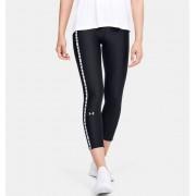 Under Armour Women's HeatGear® Armour Vertical Branded Ankle Crop Black XS