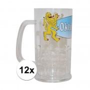 Geen 12x Plastic oktoberfest bierpullen 14 cm