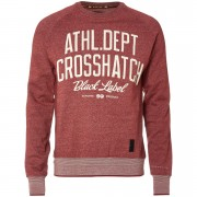 Crosshatch Men's Truman Sweatshirt - Sun Dried Tomato Marl - XXL - Red