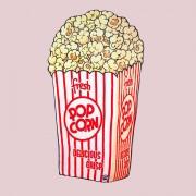 BigMouth Popcorn fleece deken