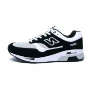 Zapatos Deportivos Con Malla Respirable Tenis Correr Para Hombre -Negro Y Blanco