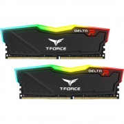 DDR4, KIT 16GB, 2x8GB, 2666MHz, Team Group Elite Delta RGB Black, 1.2V, CL15 (TF3D416G2666HC15BDC01)
