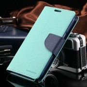 Korean Mercury Fancy Diary Case for Samsung Galaxy Note 4 - Green