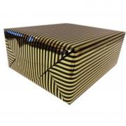 Shoppartners Inpakpapier/cadeaupapier metallic goud/zwart 150 x 70 cm