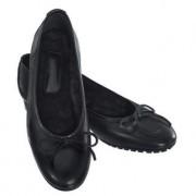 Celestino's Casanova lamsvacht-ballerina's, 39 - zwart