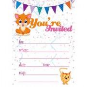 Bikri Kendra - Birthday Invitations Metallic card ( 30 cards ) - Kids Birthday Party Invitations for Boys or Girls - BK/21