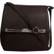 LI LEANE Women Brown Leatherette, PU Sling Bag