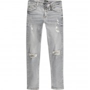 River Island Boys Grey ripped Sid skinny jeans (Size 12 Years)