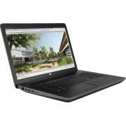 """NB HP ZBook 17 G4 1RQ78EA, crna, Intel Core i7 7700HQ 2.8GHz, 256GB SSD, 8GB, 17.3"""" 1920x1080, nVidia Quadro M1200M 4GB, Windows 10 Professional 64bit, 36mj"""
