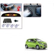 Auto Addict Car Silver Reverse Parking Sensor With LED Display For Chevrolet Beat