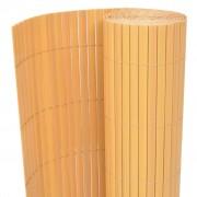 vidaXL Obojstranný záhradný plot, PVC 90x300 cm, žltý