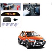Auto Addict Car Silver Reverse Parking Sensor With LED Display For Toyota Etios Cross