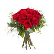 Interflora 12 Rosas Rojas de Tallo Corto - Flores a Domicilio
