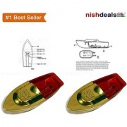 Two Piece Toy Boat / Classic Indian Educational Hot Air Steam Boat With Putt Putt Sound Toy For Genius Kids