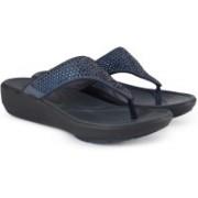 Clarks Wave Dazzle Dark Blue Slippers