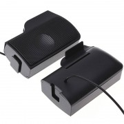 SCOMAS Draagbare Mini USB Stereo Speaker Soundbar clipon Speakers voor Notebook Laptop Telefoon Muziekspeler Computer PC met Clip