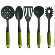 Menaje de cocina 5 piezas verde