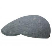 Göttmann Oxford Flatcap aus Baumwolle und Leinen, Blau (50) 61 cm