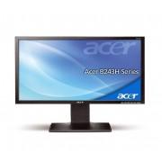 "Acer Monitor Lcd 24"" Acer B243haoymdr 1920 X 1080 Vga Altoparlanti Incorporati Refurbished Grigio"