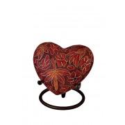Etienne Autumn Leaves Cloisonne Hart Urn (0.11 liter)