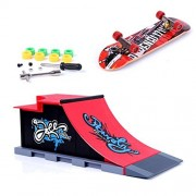 Mini Skate Park Ramp Parts for Tech Deck Fingerboard Finger Skateboard Ultimate Parks Ramp #C