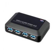 ROLINE 14.02.5015 :: USB 3.0 хъб, 4-портов, със захранване
