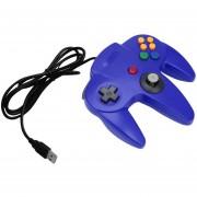ER Buen Jugador De Videojuegos Con Cable USB Ordenador PC Gamepad Controller -Blue