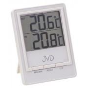 Bílý moderní digitální teploměr JVD T26