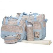 Cangaroo Set Torba za mame Stella Blue + podloga za presvlačenje beba + termo torbica za flašicu