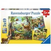 Детски пъзел 3 в 1 - Животни, Ravensburger, 700626