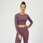 Myprotein Power Mesh Crop Top - L - Mauve