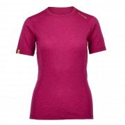 Ortovox 105 Merino Ultra S/S Damen Gr. XL - pink-rosa / dark very berry - Funktionsshirts