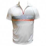 Camiseta Dry Fit Polo Degradê Zip Top - P