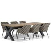 Lifestyle Garden Furniture Lifestyle Crossway/Cardiff 240 cm dining tuinset 7-delig