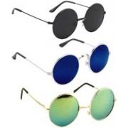 SRPM Round Sunglasses(Black, Blue, Green)