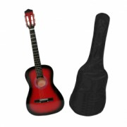 Chitara clasica din lemn 95 cm clasic red husa nylon cadou