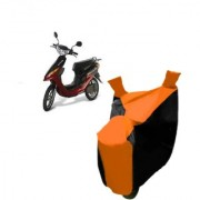 AutoAge Orange with Black Two Wheeler Cover For Yo Electron Yo Bike