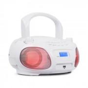Auna Roadie DAB CD-Player DAB/DAB+ FM LED Disco efecto de luz USB blanco (MG3-Roadie DAB WH)