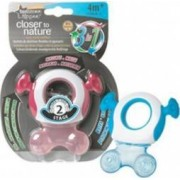 Jucarie bebelusi Tommee Tippee Closer to Nature Pink Gingival Ring Step 2