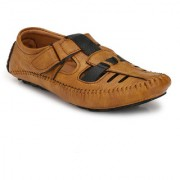 Shoe Rider Men's Tan Synthetic Leather Casual Loafer