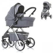 Бебешка комбинирана количка Chipolino Up and Down, сив гранит, 350845