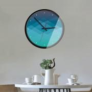 12 Inch Home Office Room Metal Decorativo Marco Degradado Color Mudo No Marcando Muro Redondo Reloj De Cuarzo