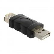 Firewire IEEE 1394 6 Pin Vrouwelijke naar USB 2.0 Type een Mannelijke Adapter Adapter Camera Mobiele Telefoons Mp3-speler Pda Zwart