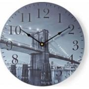 Ceas de perete Nedis Brooklyn 30 cm pentru bucatarie sau living lemn