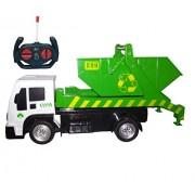 IndusBay® Smart City Remote Control Bin Tipper Garabage Dump Truck 1:16 Scale RC Construction Toy Trucks for Kids